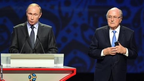 Russian president Vladimir Putin invites Sepp Blatter to 2018 Football World Cup