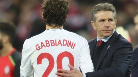 Claude Puel with Manolo Gabbiadini