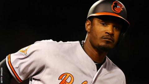 Adam Jones of the Baltimore Orioles