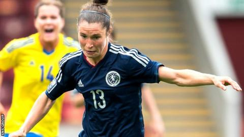 Scotland striker Jane Ross