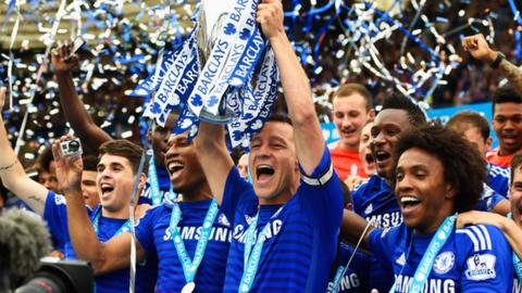John Terry with Premier League trophy