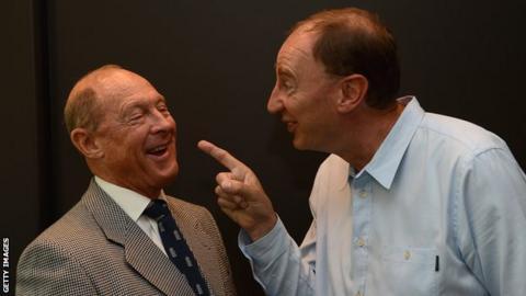 Geoffrey Boycott and Jonathan Agnew