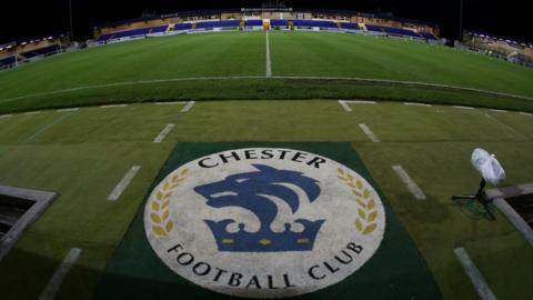 Chester football club logo and stadium