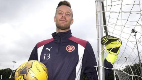Hearts goalkeeper Viktor Noring