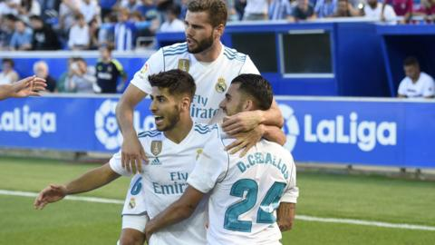Ceballos and the team celebrate