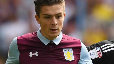 Aston Villa winger Jack Grealish