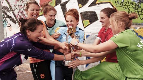 Super League captains and trophy