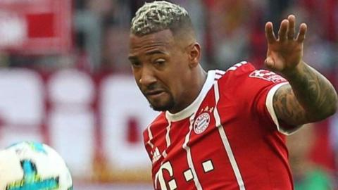 Bayern Munich defender Jerome Boateng in action against Freiburg