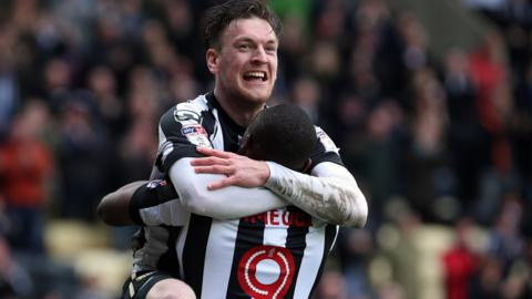 Matt Tootle celebrates a Notts County goal
