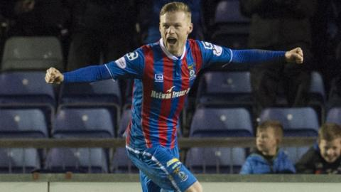Billy Mckay was the hero for Inverness Caley Thistle with a late acrobatic winner