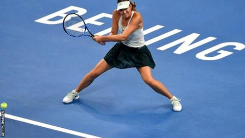 WTA Beijing - Sharapova takes revenge to beat Sevastova after three hours