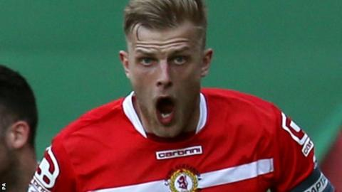 Crewe captain Harry Davis has been limited to just 10 games this season by injury