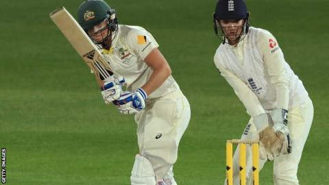Perry's historic double century puts Australia in control against England