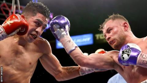 Carl Frampton was making the first defence of the WBA world featherweight title
