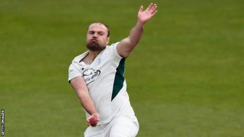 Joe Leach has starred for Worcestershire against Glamorgan