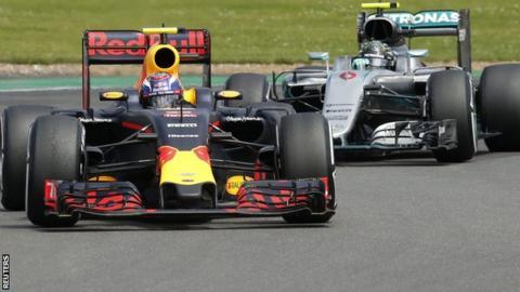 Max Verstappen and Nico Rosberg