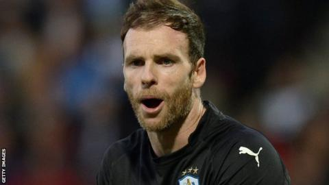 Huddersfield Town goalkeeper Joe Murphy