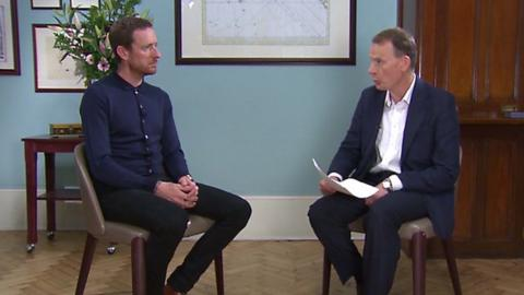 Bradley Wiggins and Andrew Marr