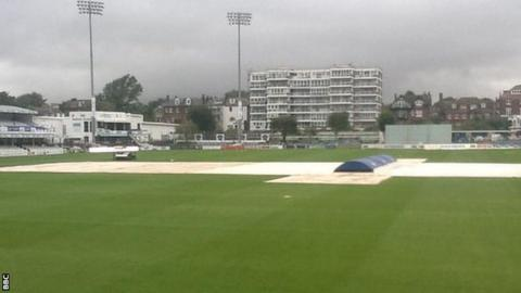 Rain at Sussex's Hove headquarters