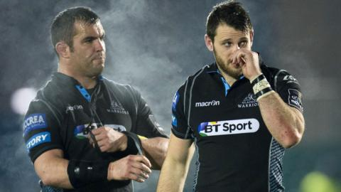 Tommy Seymour (right) and Corey Flynn at full-time