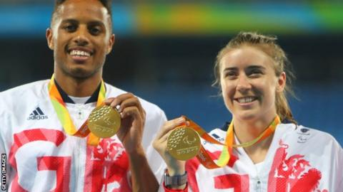 Libby Clegg (right) and her guide Chris Clarke