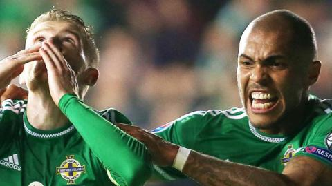 Steven Davis and Josh Magennis scored in Northern Ireland's 3-1 win over Greece which clinched qualification for the finals of Euro 2016. It is the first time NI have qualified for a major tournament since the 1986 World Cup