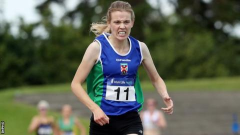Emma Mitchell sprint to the line to secure a comfortable 5,000m win at Santry on Saturday