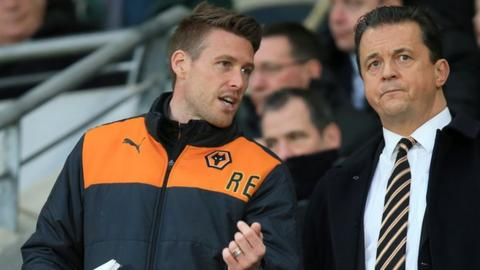 Rob Edwards was twice employed by former Wolves chief executive Jez Moxey (right), first as a player, then on the coaching side