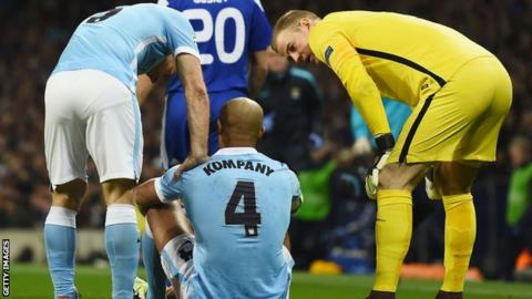 Kompany out for 'at least a month'