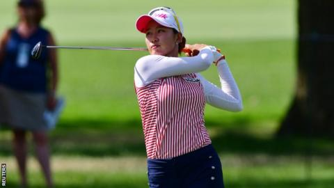Danielle Kang chip in to save par at KPMG Women's PGA Championship