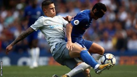 Everton midfielder Muhamed Besic