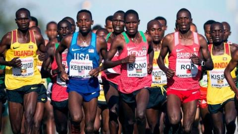 Athletes during the World Cross County Championships in Kampala