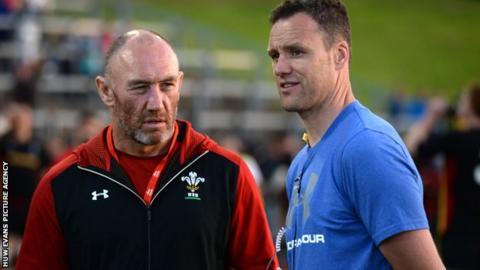 Robin McBryde (left) with Mark Jones