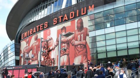 The front of Emirates Stadium