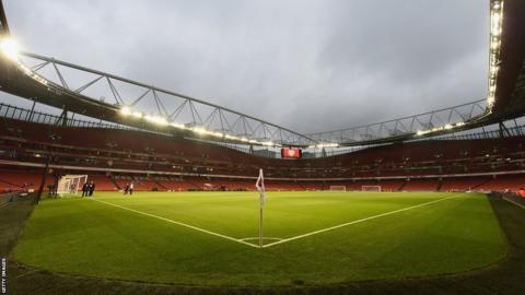 The inside of Emirates Stadium