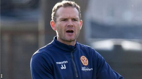 Jonatan Johansson pictured during his time as coach of Motherwell's Under-20s