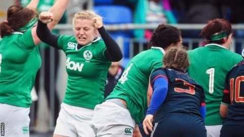 Ireland beat France to make it three wins out of three in the Women's Six Nations