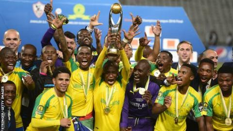 Image result for Sundowns win CAF Champions League