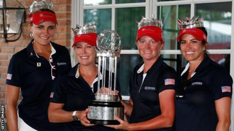 The winning US team at the UL International Crown