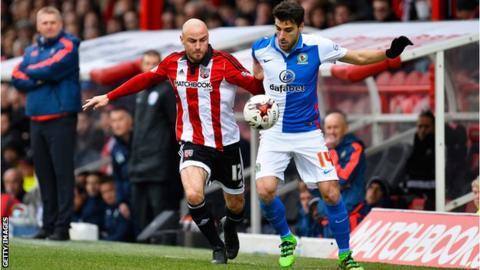 Jordi Gomez against Brentford's Alan McCormack