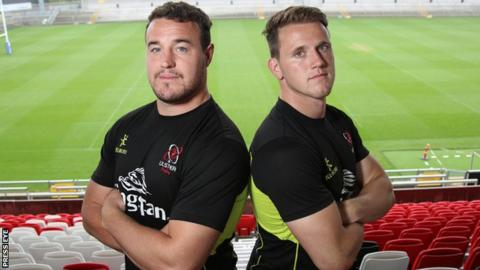 Rob Herring (left) and Craig Gilroy will both be in action for Ulster against the Barbarians