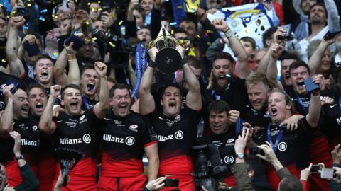Saracens celebrate 2016 European Cup win