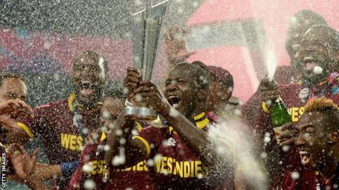 West Indies celebrate winning the T20 World Cup