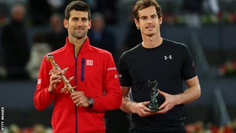 Novak Djokovic (left) and Andy Murray