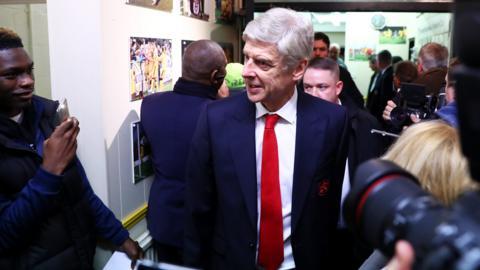 Arsene Wenger arrives