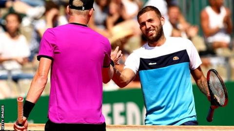 Kyle Edmund and Dan Evans