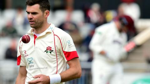 Lancashire's Jimmy Anderson