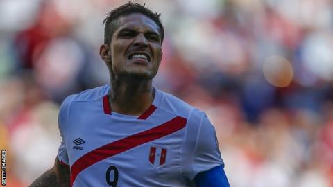 Federation Internationale de Football Association suspend Peruvian striker Paolo Guerrero for 30 days