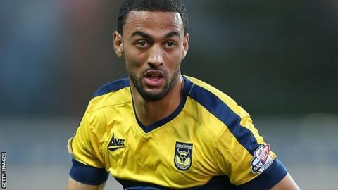 Oxford United midfielder Kemar Roofe