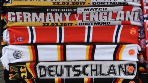 Germany and England scarves